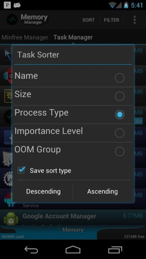 Android Memory Manager Screen 7