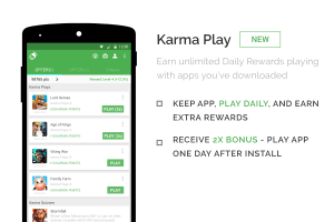 Android appKarma Rewards & Gift Cards Screen 1