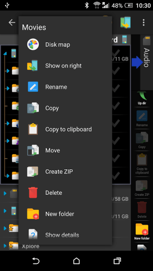Android X-plore File Manager Screen 7