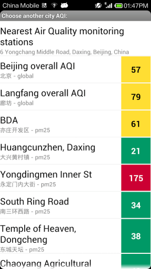Android Air Quality: Real time AQI Screen 1