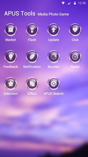 Android Purple Sky Theme Screen 2