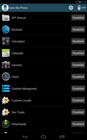 Android Save Me control your apps free Screen 4
