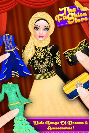 Android Hijab Fashion Doll Dress Up Screen 3