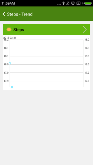Android 4Free Pedometer Screen 3