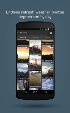 Android MoWeather Screen 1