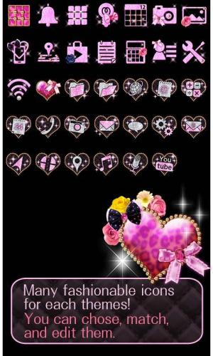 Android ★FREE THEMES★Sparkling Heart Screen 3