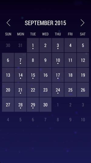 Android Calendar Widget: Month Screen 5