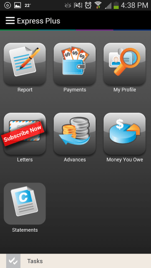 Android Express Plus Job Seekers Screen 2