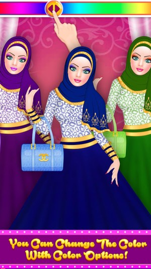 Android Hijab Fashion Doll Dress Up Screen 9