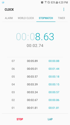 Android Samsung Clock Screen 3