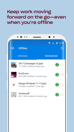 Android Dropbox Screen 19