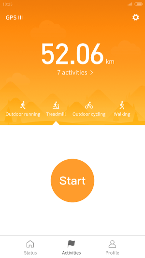 Android Mi Fit Screen 1