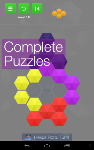 Android Hexus Puzzles Screen 2