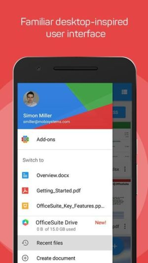 Android OfficeSuite : Free Office + PDF Editor Screen 6