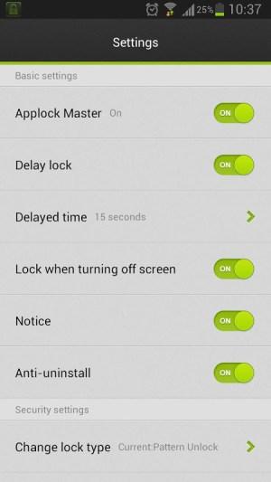 Android Applock Master Screen 4