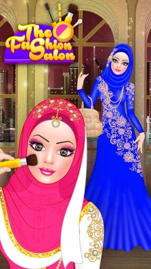 Android Hijab Fashion Doll Dress Up Screen 6
