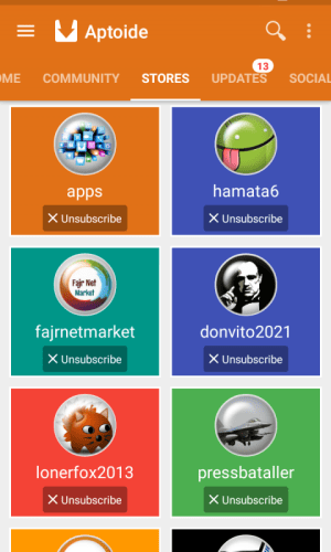 Android Aptoide Screen 1