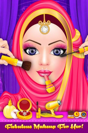 Android Hijab Fashion Doll Dress Up Screen 2