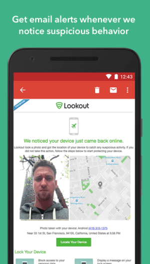 Android Lookout Security & Antivirus Screen 4