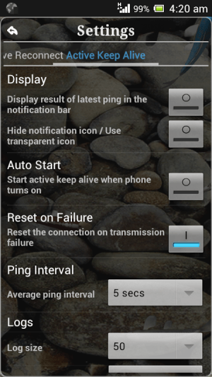 Android Connection Stabilizer Booster Screen 1