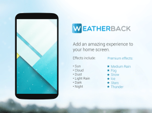 Android Weatherback Wallpaper Screen 1