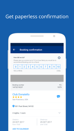 Android Booking.com Hotel Reservations Screen 10