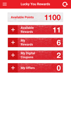 Android Lucky Supermarkets Screen 2