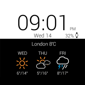 Android Transparent clock weather Pro Screen 24