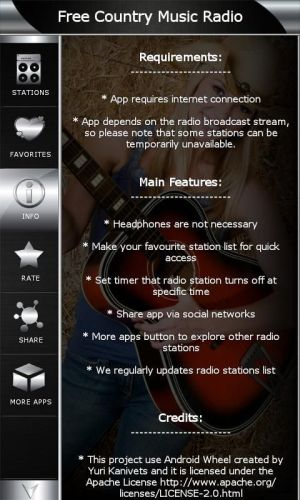 Android Free Country Music Radio Screen 5