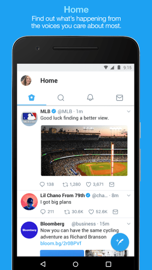 Android Twitter Screen 1