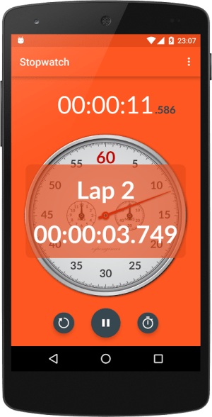 Android Chronometer Screen 1