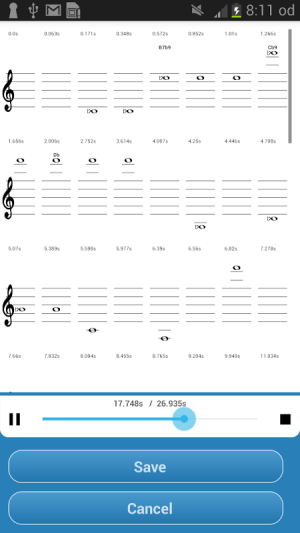 Android Music Translator (Recognition) Screen 2