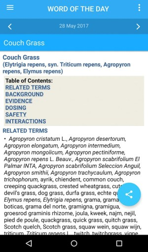 Android Natural Standard Herb Guide TR Screen 1