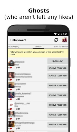 Android Unfollowers for Instagram Screen 1