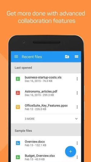 Android OfficeSuite : Free Office + PDF Editor Screen 7