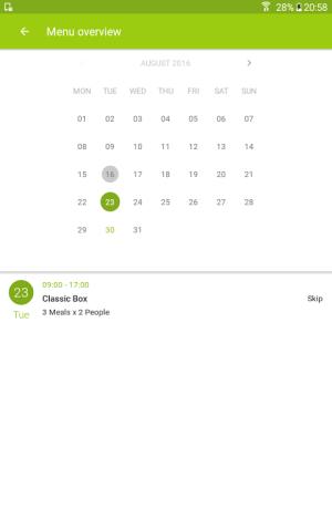 Android HelloFresh - More Than Food Screen 17
