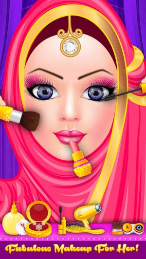 Android Hijab Fashion Doll Dress Up Screen 12