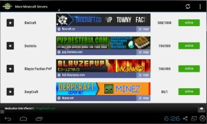 Android Minecraft News Screen 1