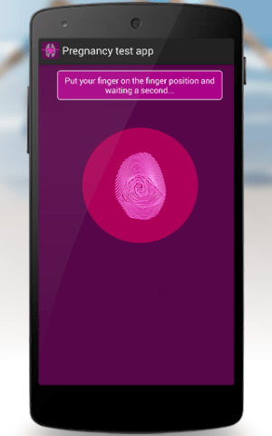 Android Pregnancy test app Screen 1