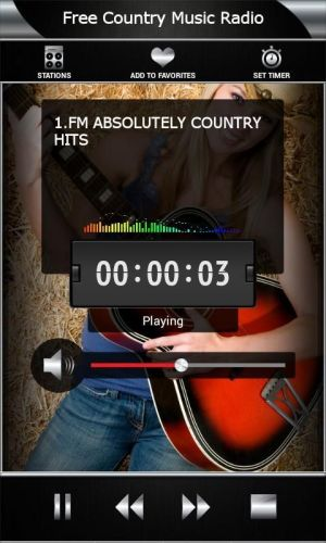 Android Free Country Music Radio Screen 2