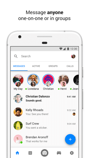 Android Messenger – Text and Video Chat for Free Screen 3