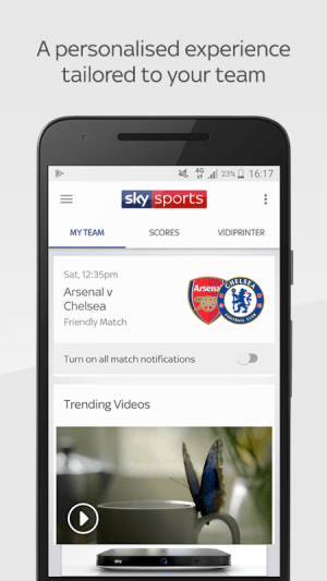 Android Sky Sports Live Football SC Screen 2