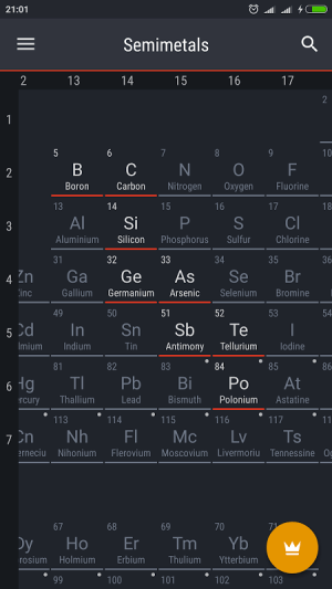 Android Periodic Table 2017 Screen 4