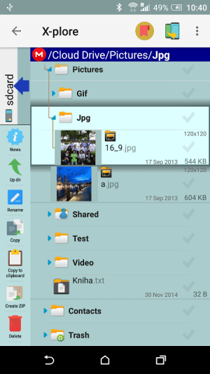 Android X-plore File Manager Screen 10
