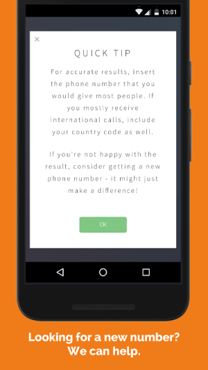 Android Lucky Phone Number Screen 1