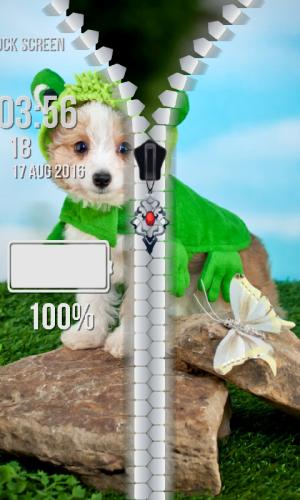 Android Puppy Zipper Lock Screen Screen 6