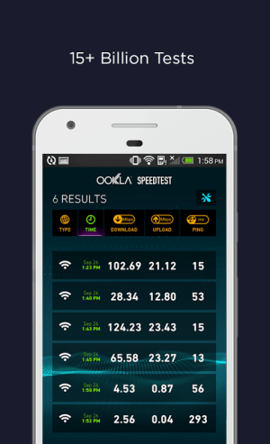 Android Speedtest by Ookla Screen 2