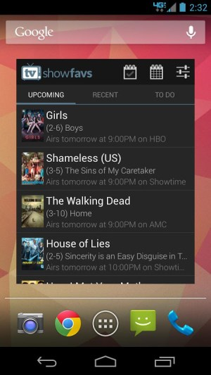 Android TV Show Favs Screen 4