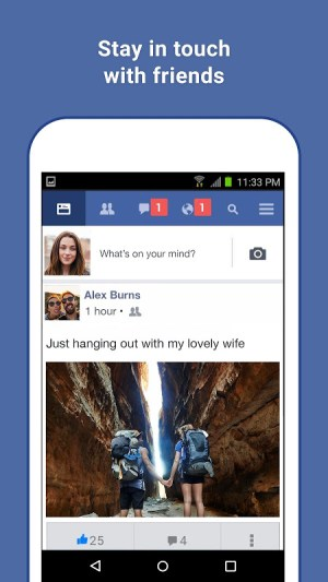Android Facebook Lite Screen 1