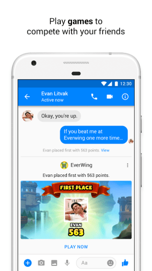 Android Messenger – Text and Video Chat for Free Screen 1
